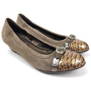AGL ATTILIO GIUSTI LEOMBRUNI Snake Wedge Shoes